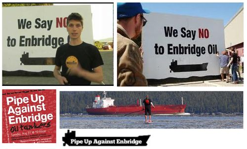 Anti-Enbridge Collage
