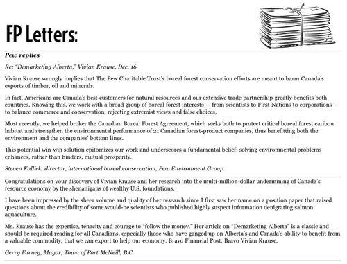 * FP Letters Pew Replies Mayor Furney