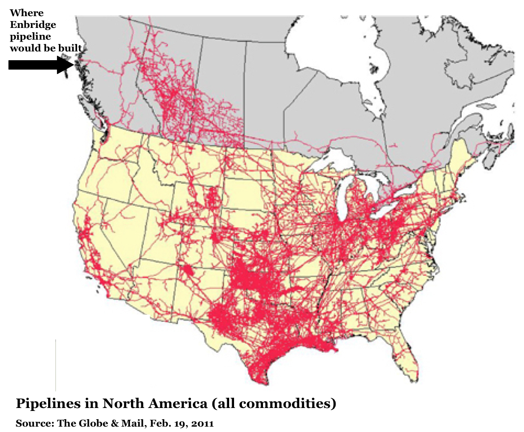 The Picture That Tells A Thousand Words The Map Of Pipelines In - Oil pipeline map north america