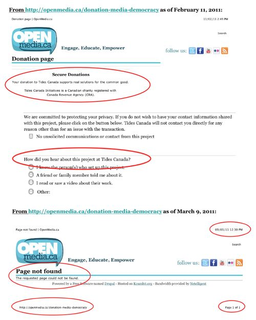 OpenMedia Web-Page Changes Pg1