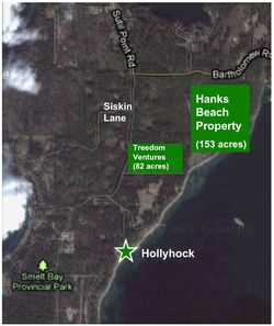 Hank's Beach Treedom Arial View MAP
