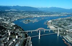 Arial of Fraser River
