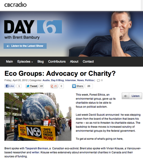 CBC Day 6 EcoActivism or Charity?