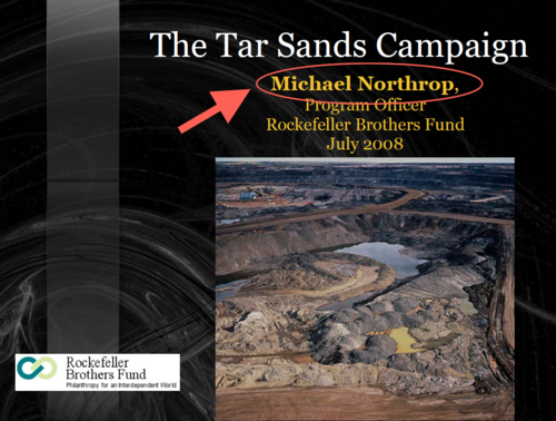 RBF Michael Northorp Tar Sands Campaign