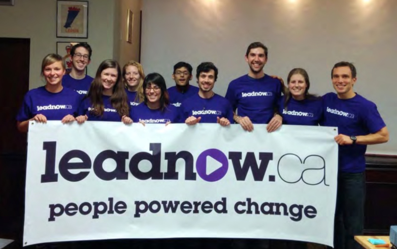 Leadnow (in purple tshirts)