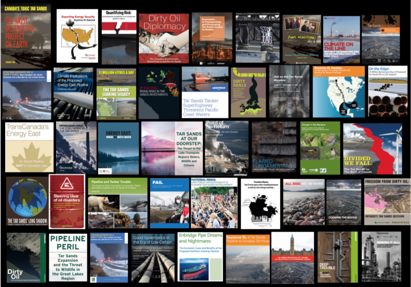 Tar Sands Campaign REPORTS COLLAGE (BLACK)
